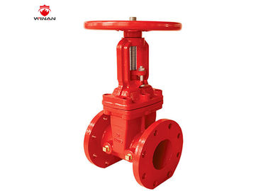 UL Ductile Iron Fire Fighting Valves , Flanged End Gate Valve 2 - 12 Inch